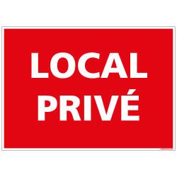 Panneau de signalisation Local Privé (D0972)
