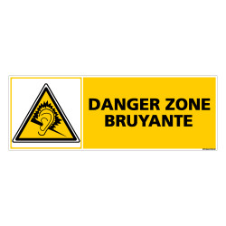 Panneau DANGER ZONE BRUYANTE (C0388)