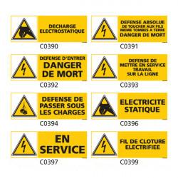 Panneau et Pictogramme de Signalisation danger electrique