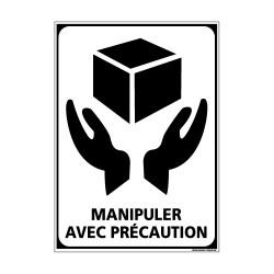 Adhésif de Signalisation CONDITIONNEMENT : MANIPULER AVEC PRECAUTION (M0272)