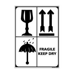 Adhésif de Signalisation CONDITIONNEMENT : FRAGILE KEEP DRY (M0277)
