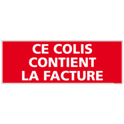 ADHESIF DE CONDITIONNEMENT FACTURE (M0323)