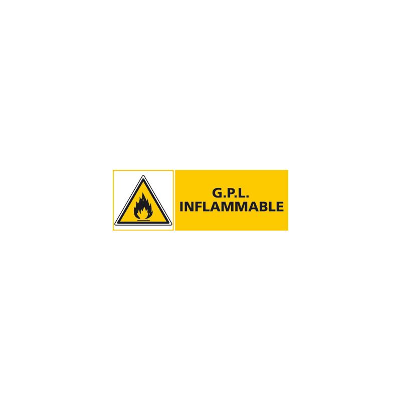 Panneau G.P.L INFLAMMABLE (C0405)