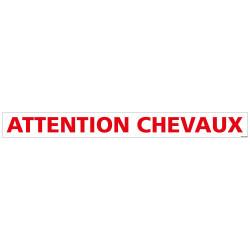 PANNEAU ATTENTION CHEVAUX (M0370)