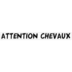 BANDEAU ATTENTION CHEVAUX (M0372)