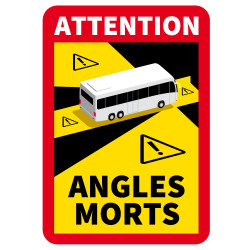 ADHESIF SPECIAL AUTOBUS - ATTENTION ANGLES MORTS (M0375)