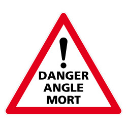 ADHESIF TRIANGLE ATTENTION ANGLE MORT - DISPOSITIF POIDS LOURDS (M0376T)