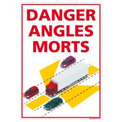 ADHESIFS DANGER ANGLES MORTS - POIDS LOURDS SUR LES ROUTES (M0378)