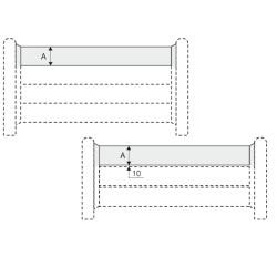 Signalétique étoile - Planches côte côte ou espacées de 10 mm