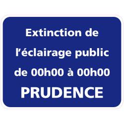 Panneau EXTINCTION DE L'ECLAIRAGE PUBLIC PERSONNALISABLE (EP001)