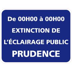 Panneau EXTINCTION DE L'ECLAIRAGE PUBLIC PERSONNALISABLE (EP002)