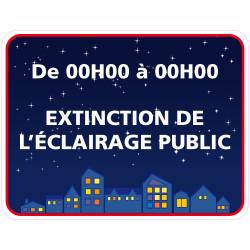 Panneau EXTINCTION DE L'ECLAIRAGE PUBLIC PERSONNALISABLE (EP003)
