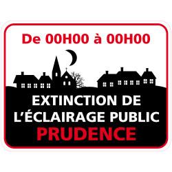 Panneau EXTINCTION DE L'ECLAIRAGE PUBLIC PERSONNALISABLE (EP004)