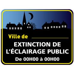 Panneau EXTINCTION DE L'ECLAIRAGE PUBLIC PERSONNALISABLE (EP005)