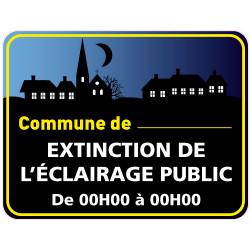Panneau EXTINCTION DE L'ECLAIRAGE PUBLIC PERSONNALISABLE (EP006)
