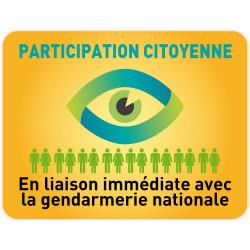 PANNEAU PARTICIPATION CITOYENNE GENDARMERIE (PC001)