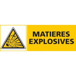 Panneau MATIERES EXPLOSIVES (C0418)