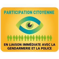 Panneau PARTICIPATION CITOYENNE GENDARMERIE et POLICE (PC002)