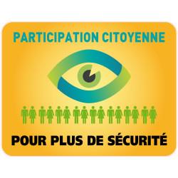 Panneau PARTICIPATION CITOYENNE POUR PLUS DE SECURITE (PC003)