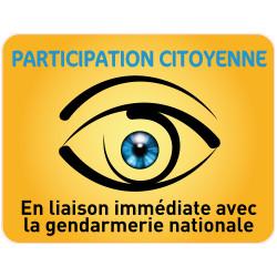 Panneau PARTICIPATION CITOYENNE GENDARMERIE (PC004)
