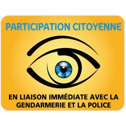 PANNEAU PARTICIPATION CITOYENNE GENDARMERIE et POLICE (PC005)
