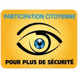 Panneau PARTICIPATION CITOYENNE POUR PLUS DE SECURITE (PC006)