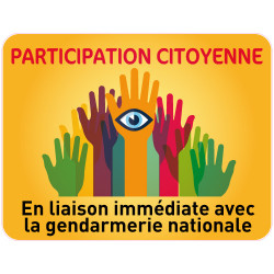Panneau PARTICIPATION CITOYENNE GENDARMERIE (PC007)