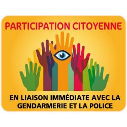 Panneau PARTICIPATION CITOYENNE GENDARMERIE et POLICE (PC008)