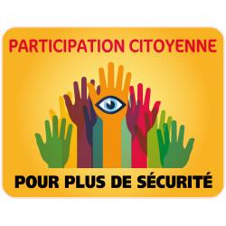 PANNEAU PARTICIPATION CITOYENNE POUR PLUS DE SECURITE (PC009)
