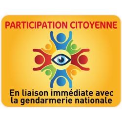 Panneau PARTICIPATION CITOYENNE GENDARMERIE (PC010)
