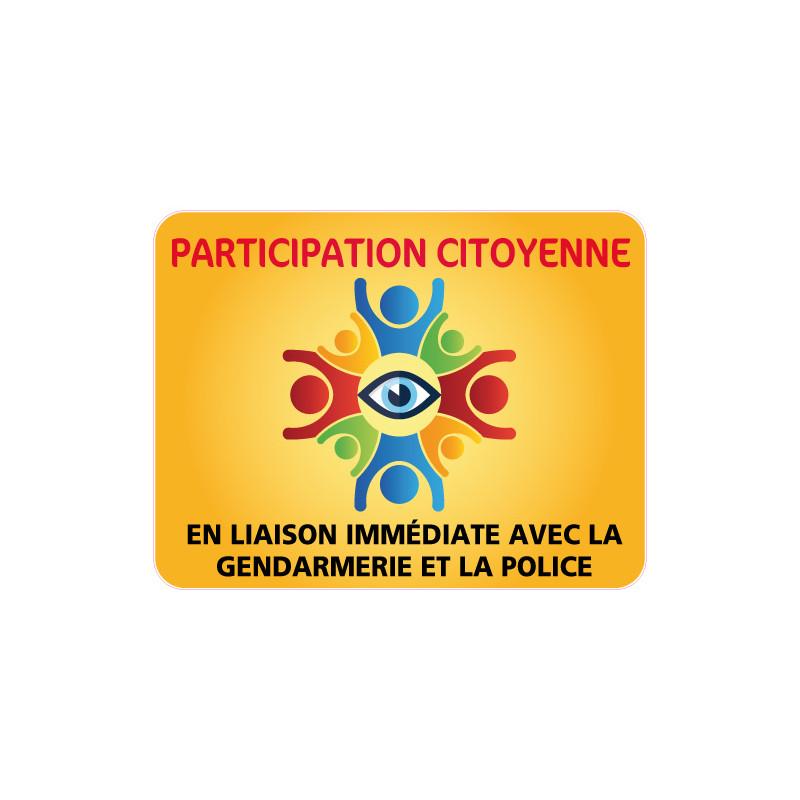 PANNEAU PARTICIPATION CITOYENNE GENDARMERIE et POLICE (PC011)