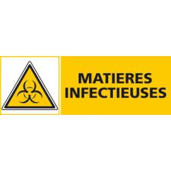 Panneau MATIERES INFECTIEUSES (C0419)