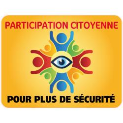 Panneau PARTICIPATION CITOYENNE POUR PLUS DE SECURITE (PC012)