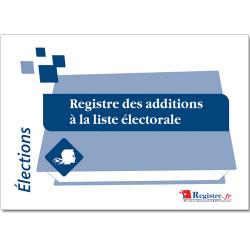REGISTRE DES ADDITIONS DE LA LISTE ELECTORALE (RA003)