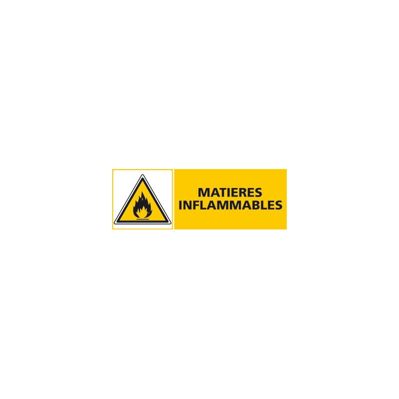 Panneau MATIERES INFLAMMABLES (C0420)