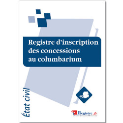 REGISTRE INSCRIPTION DES CONCESSIONS AU COLUMBARIUM (RA014)