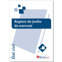 REGISTRE DU JARDIN DU SOUVENIR (RA038)