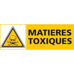 Panneau MATIERES TOXIQUES (C0423)