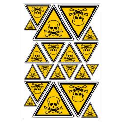 PLANCHE DE STICKERS DANGER TOXIQUE (C0423T_PL20)