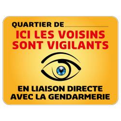 Panneau Quartier Personnalisable Ici nos Voisins sont Vigilants Gamme Bretagne Classe 1 (VG0006)