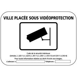 Panneau Ville sous vidéoprotection (VPV001) Gamme Bretagne Classe 1