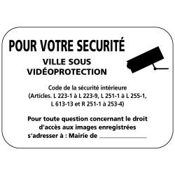Panneau entrée de ville sous video protection (VPV002) Bretagne Classe 1
