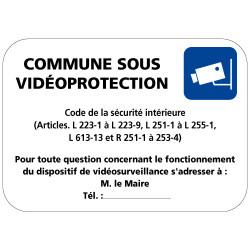 Panneau commune sous video protection (VPV003) Bretagne Classe 1