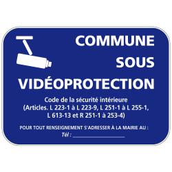 Panneau commune sous video protection (VPV004) Bretagne Classe 1