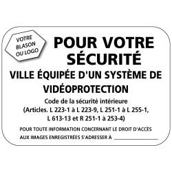 Panneau ville équipée d un systeme de video protection (VPV005) Bretagne Classe 1
