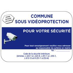 Panneau Commune sous video protection (VPV006) Bretagne Classe 1