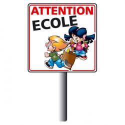 Kit panneau ATTENTION ECOLE (W0174)