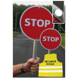 Kit Sécurité Ecole Stop école dont 2 panneaux STOP (visuel W0196 STOP)