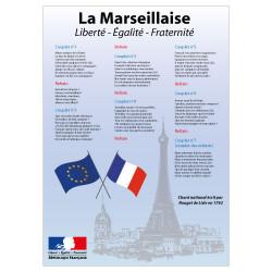 AFFICHAGE LA MARSEILLAISE POUR ECOLE (DEV0016)