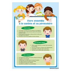 PANNEAU POUR ENFANT VIVRE BIEN A LA CANTINE ET AU PERISCOLAIRE (G1501)